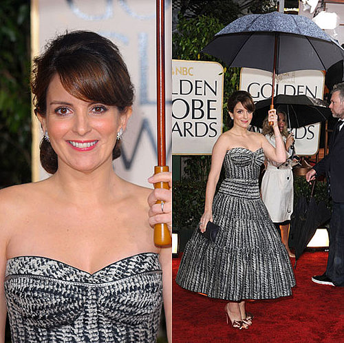 Tina Fey in Zac Posen at the 2010 Golden Globe Awards
