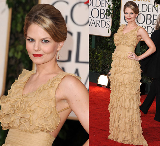 Jennifer Morrison in Luis Antonio at 2010 Golden Globe Awards
