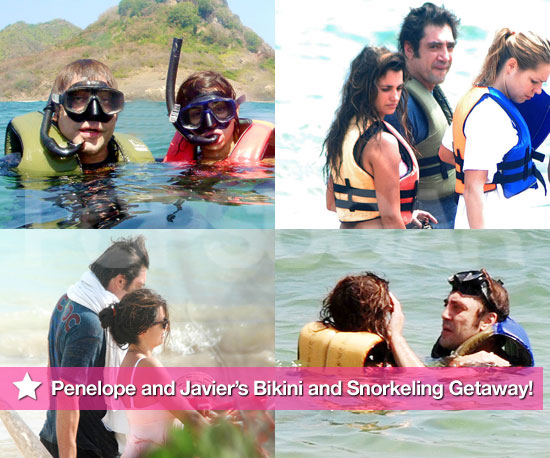 Photos of Penelope Cruz in Bikini and Javier Bardem Shirtless on Vacation and Snorkeling in Brazil