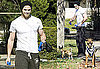 Photos of Kellan Lutz Running With His Dogs
