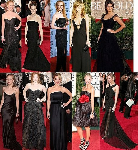 Black Frocks at the Golden Globes