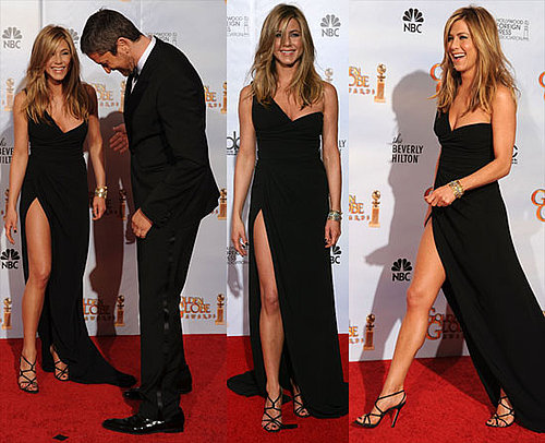 Jennifer Aniston's Golden Globe Legs Photos