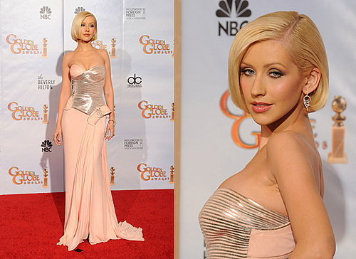 Christina Aguilera at the 2010 Golden Globes