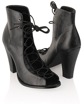 Look for Less- Ann Demeulemeester Lace Up Boots