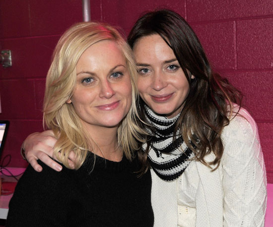 Amy Poehler and Emily Blunt looked sweet at a 2009 screening of Spring Breakdown.