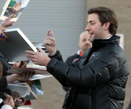 John Krasinski signed autographs at the 2009 festival.