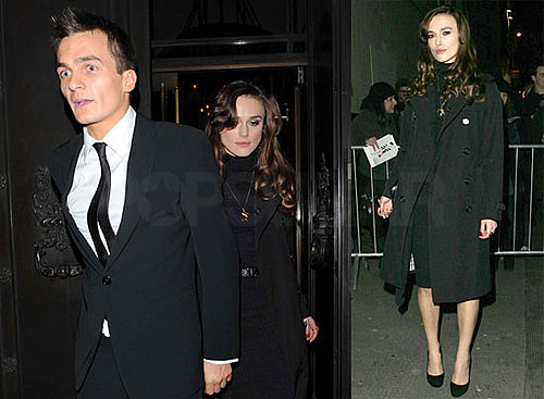 Photos of Keira Knightley, Who Dropped Out of My Fair Lady, With Rupert Friend in London