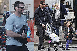 Photos of Hugh Jackman Leaving the Gym and Spending Time With His Family in NYC