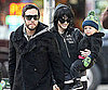Slide Photo of Ashlee Simpson and Pete Wentz with Bronx in NYC