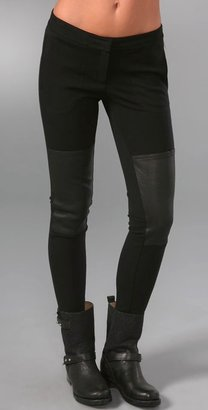 Leather and Jersey Leggings