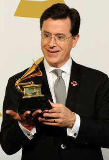 Grammy Interview With Stephen Colbert, Winner for Best Comedy Album