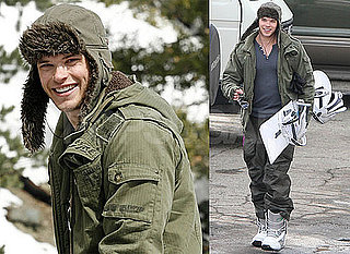 Photos of Kellan Lutz Snowboarding in California's Big Bear With His Brother Brandon