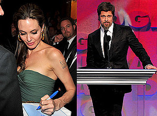 Photos of Brad Pitt and Angelina Jolie Together at Directors Guild Awards After Rumored Breakup 2010-01-31 11:19:16