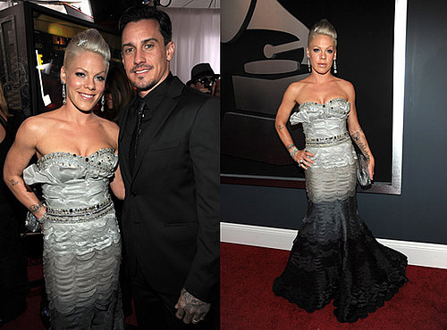 Pink and Carey Hart at 2010 Grammy Awards
