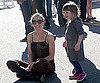 Slide Photo of Maggie Gyllenhaal and Ramona at Flea Market