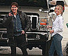 Slide Photo of Tom Cruise and Cameron Diaz on the Set of Knight and Day Performing Stunts