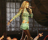 Fergie took the stage with the Black Eyed Peas in 2004.