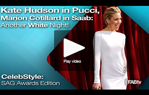 FabTV: Kate Hudson in Pucci, Marion Cotillard in Elie Saab — White Hot!