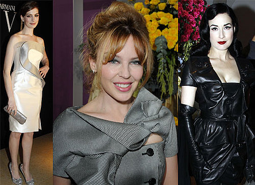 Photos from the 2010 Paris Spring Haute Couture Shows with Kylie Minogue, Dita von Teese, Paz Vega, Maggie Cheung, Anne Hathaway