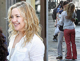 Photos of Kate Hudson and Gael Garcia Bernal Shooting Scene For Earthbound in New Orleans