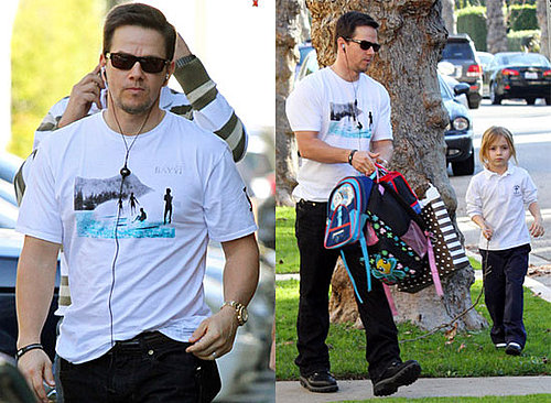 Photos of Mark Wahlberg Picking Up Daughter Ella Wahlberg in LA 2010-01-28 15:30:15