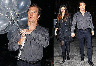 Photos of Matthew McConaughey and Camila Alves Leaving Her Birthday Party in Malibu