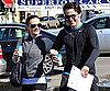 Slide Photo of Anna Paquin and Stephen Moyer in LA Working Out