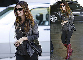 Photos of Rachel Bilson Wearing Red Boots and Running Errands in LA
