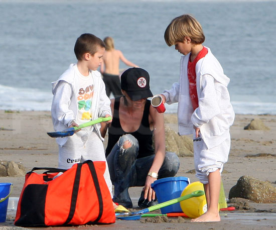 Beckhams at the Beach
