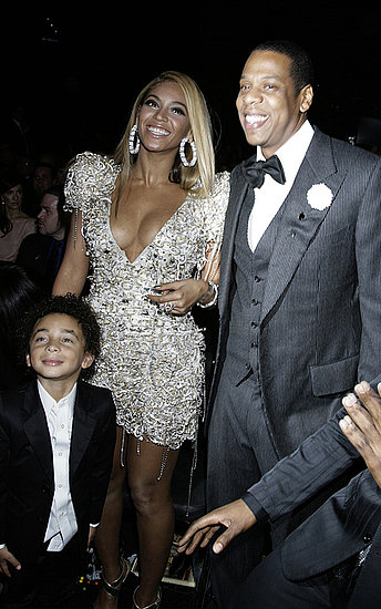 Beyonce at the Grammy with Jay-Z and her nephew