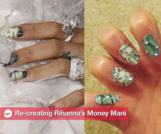 How To Make Rihanna's Money Manicure