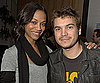 Slide Photo of Emile Hirsch and Zoe Saldana at Haiti Event in LA