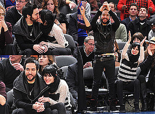 Photos of Ashlee Simpson and Pete Wentz at the New York Knicks Game in NYC
