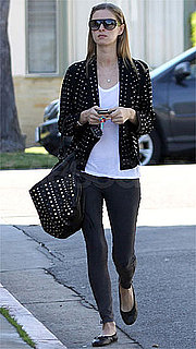 Nicky Hilton Wearing a Studded H&M Blazer in LA