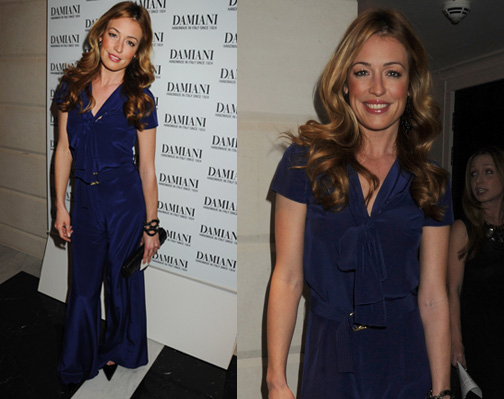 Photos of Cat Deeley in Blue Jumpsuit in London