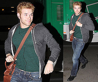 Photos of Kellan Lutz at the Airport Going to the Super Bowl