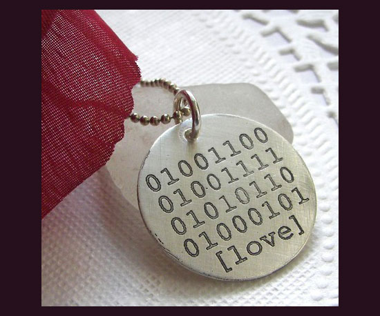 Binary Love Necklace ($32)