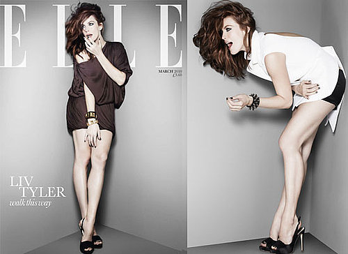Photos of Liv Tyler on the Front Cover of UK Elle Magazine March 2010 Plus Extracts From Her Interview