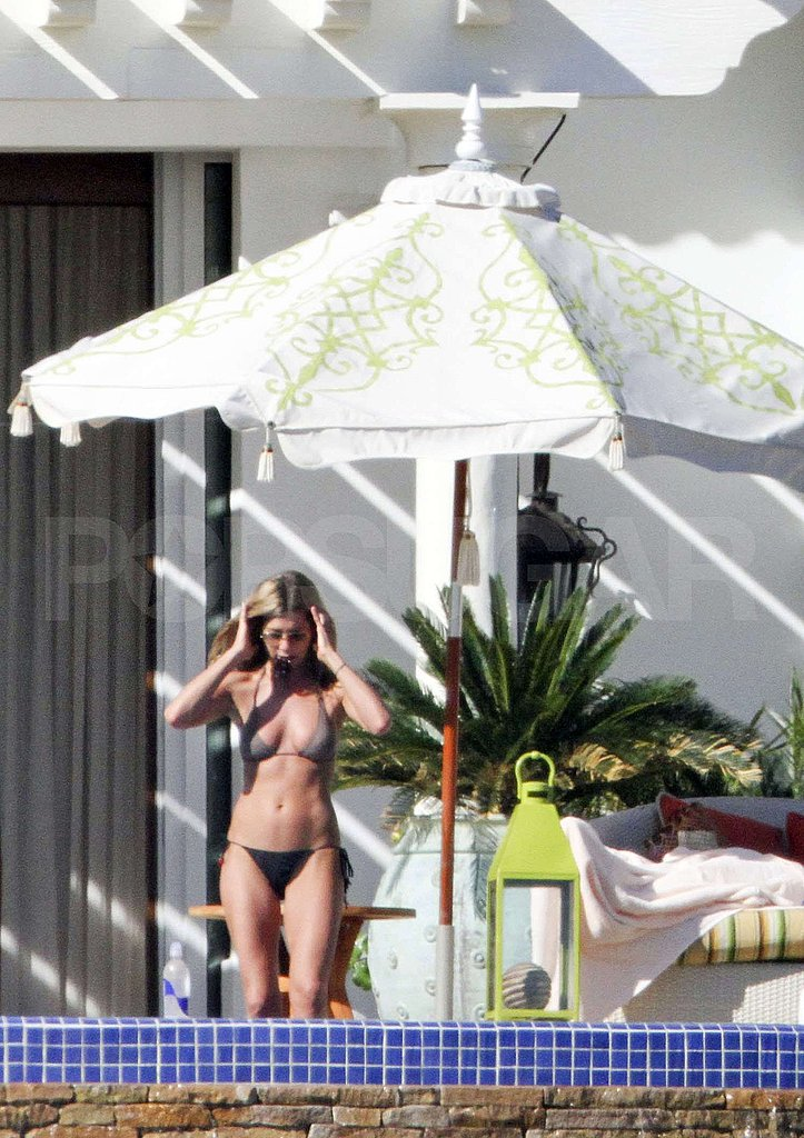 Photos of Jennifer Aniston in a Black Bikini