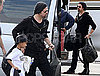 Photos of Brad Pitt and Maddox Jolie Pitt Leaving Miami Together After the 2010 Super Bowl