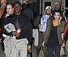 Slide Photo of Reggie Bush and Kim Kardashian Leaving Stadium After Super Bowl