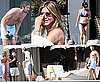 Photos of Shirtless Gerard Butler and Jennifer Aniston and Courteney Cox in Bikinis on Holiday in Mexico