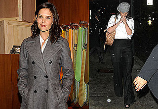 Photos of Katie Holmes Out in the Snow and at Hermes Mens Store Opening in NYC