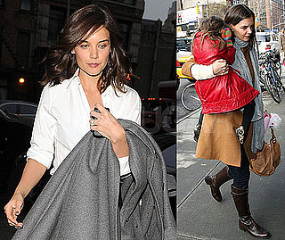 Photos of Katie Holmes Walking in NYC After Her Weekend in Miami For the Super Bowl