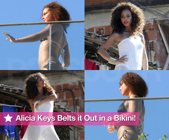 Slideshow of Photos of Alicia Keys in Bikini in Brazil