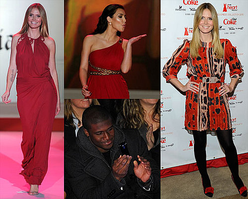 Photos of Heidi Klum, Kim Kardashian, Pregnant Bethenny Frankel, and More at the 2010 Red Dress Heart Truth Fashion Show in NYC 2010-02-12 09:00:00
