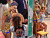 Photos of Alicia Keys And Beyonce Knowles Filming Their Video For &quot;Put It In A Love Song&quot; Together in Rio