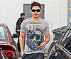 Slide Photo of Zac Efron Shopping in LA