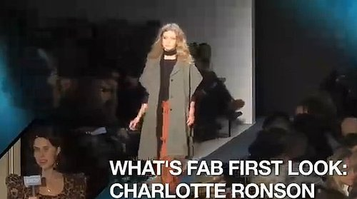 FabTV: What's Fab First Look, Charlotte Ronson at New York Fashion Week