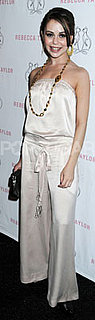 Alexis Dziena in Silk Romper at Rebecca Taylor Show